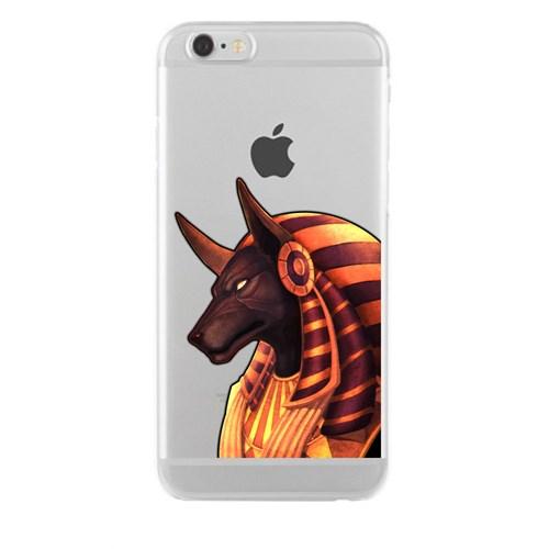 Remeto iPhone 6/6S Plus Şeffaf Silikon Resimli Çakal Tanrı Anubis