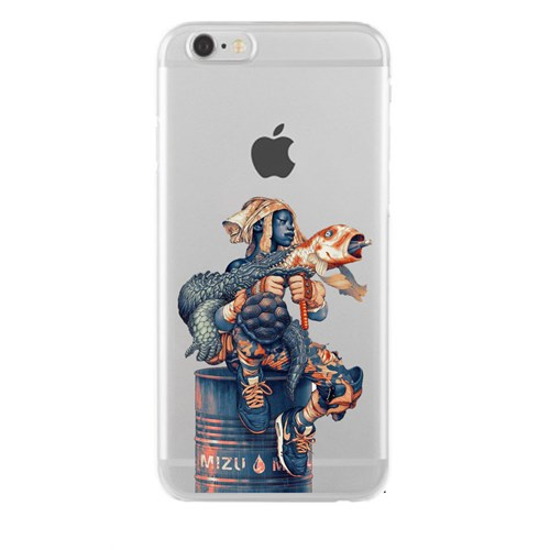 Remeto iPhone 6/6S Plus Şeffaf Silikon Resimli Su İçin Savaşanlar