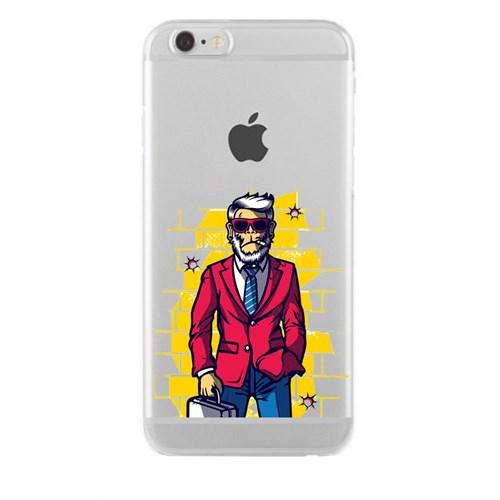 Remeto iPhone 6/6S Plus Şeffaf Silikon Resimli Patron Maymun