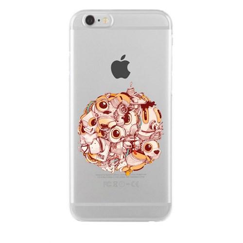 Remeto iPhone 6/6S Plus Şeffaf Silikon Resimli Canlı Gezegen