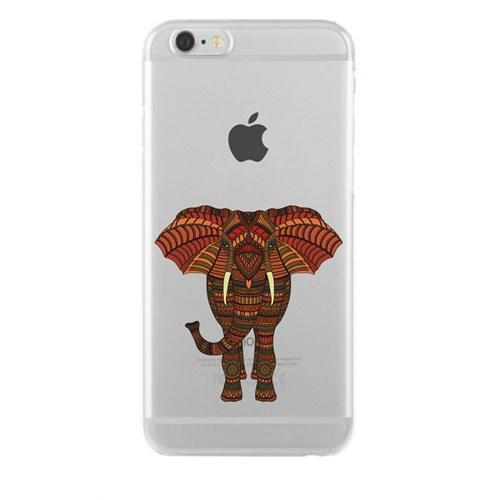 Remeto iPhone 6/6S Şeffaf Silikon Resimli Bulunmaz Hint Fili