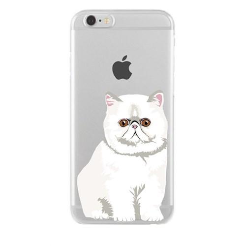 Remeto iPhone 6/6S Şeffaf Silikon Resimli Şaşkın Kedi Kedisi