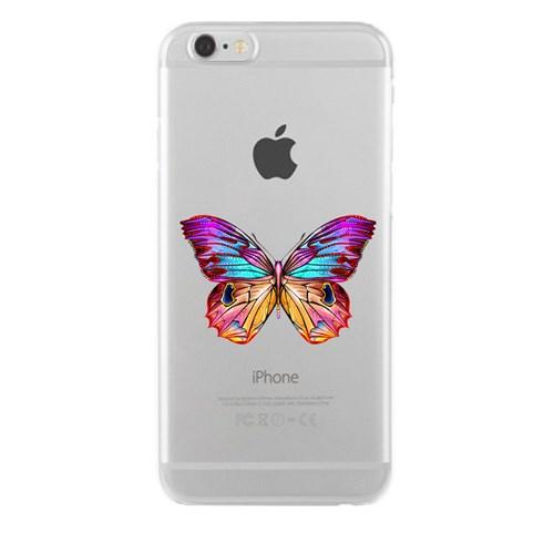 Remeto iPhone 6/6S OLGun Kelebek Apple Şeffaf Silikon Resimli Kılıf