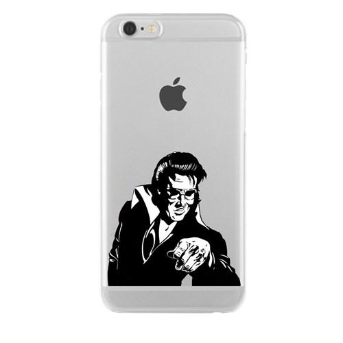 Remeto iPhone 6/6S Plus Elvis Presley Apple Şeffaf Silikon Resimli Kılıf