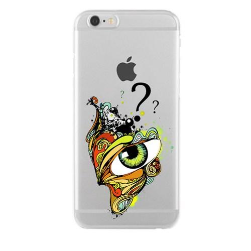 Remeto iPhone 6/6S Plus Gizemli Göz Apple Şeffaf Silikon Resimli Kılıf