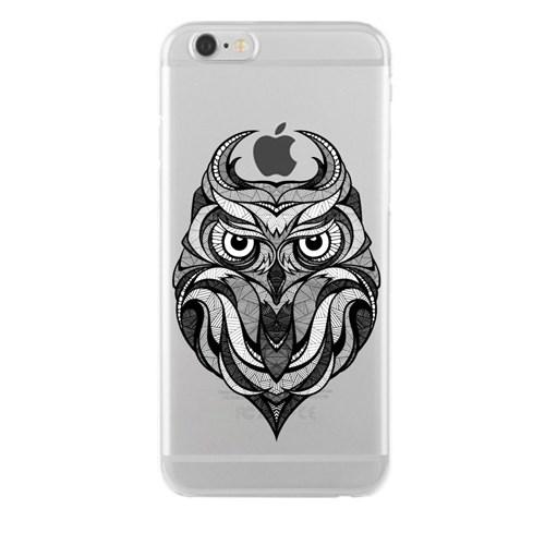 Remeto iPhone 6/6S Plus Karakalem Baykuş Apple Şeffaf Silikon Resimli Kılıf