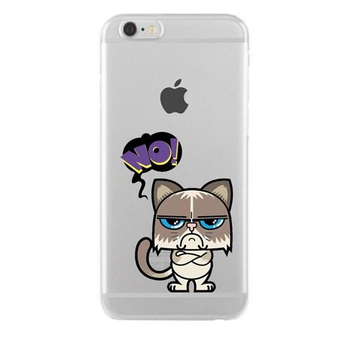 Remeto iPhone 6/6S Plus Şeffaf Silikon Resimli Bay Hayır
