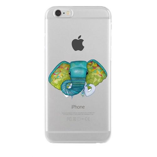 Remeto iPhone 6/6S Plus Şeffaf Silikon Resimli Fil Başı