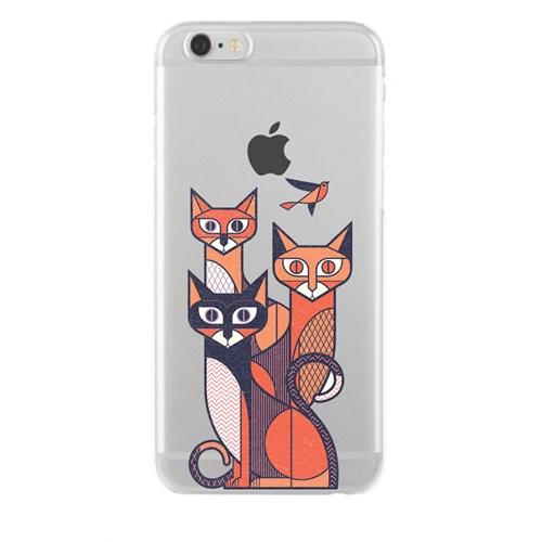 Remeto iPhone 6/6S Plus Şeffaf Silikon Resimli Kedigiller