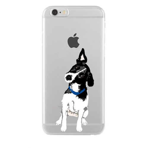 Remeto iPhone 6/6S Plus Şeffaf Silikon Resimli Şaşkın Köpek