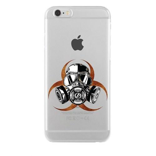 Remeto iPhone 6/6S Plus Şeffaf Silikon Resimli Biyolojik Tehlike Apple