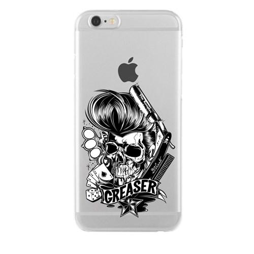 Remeto iPhone 6/6S Karizma Kurukafa Apple Şeffaf Silikon Resimli Kılıf