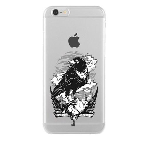 Remeto iPhone 6/6S Plus Gizemli Karga Apple Şeffaf Silikon Resimli Kılıf