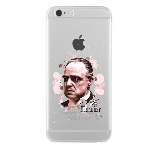 Remeto iPhone 6/6S Plus Godfather Apple Şeffaf Silikon Resimli Kılıf