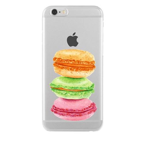 Remeto iPhone 6/6S Makaron Apple Şeffaf Silikon Resimli Kılıf