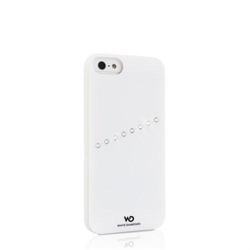 White Diamonds Apple İphone Se 5 5S Kılıf White Diamonds Sash Zirkon Taşlı Beyaz