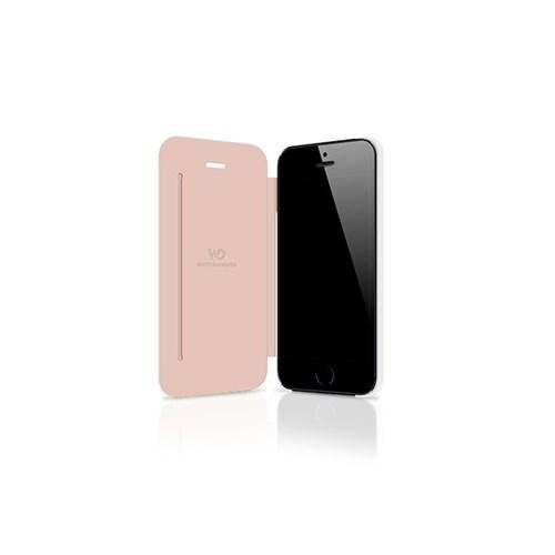 White Diamonds Apple İphone Se 5 5S Kılıf White Diamonds Crystal Booklet Zirkon Taşlı Beyaz