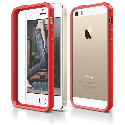 Elago Apple İphone Se 5 5S Kılıf Elago Bumper Kırmızı