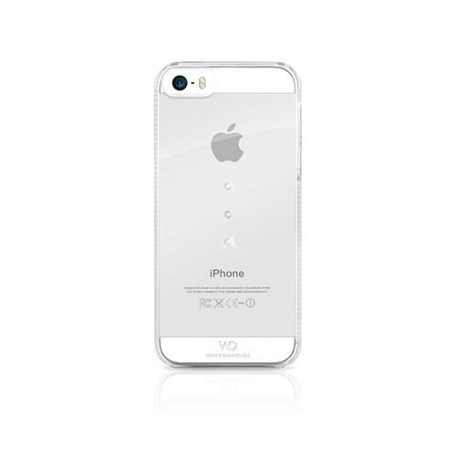 White Diamonds Apple İphone Se 5 5S Kılıf White Diamonds Trinity Zirkon Taşlı Beyaz
