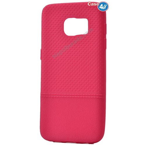 Case 4U Samsung Galaxy S7 Matrix Silikon Kapak Pembe