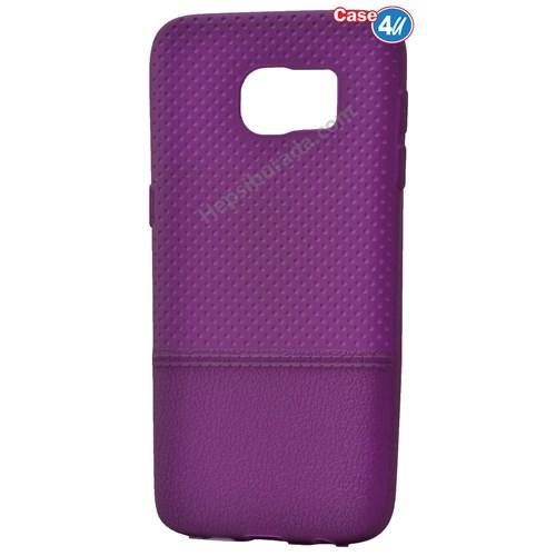 Case 4U Samsung Galaxy S7 Matrix Silikon Kapak Mor