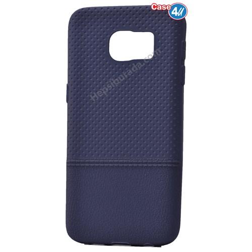 Case 4U Samsung Galaxy S7 Matrix Silikon Kapak Lacivert