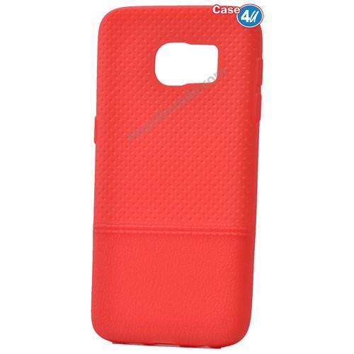 Case 4U Samsung Galaxy S7 Matrix Silikon Kapak Kırmızı