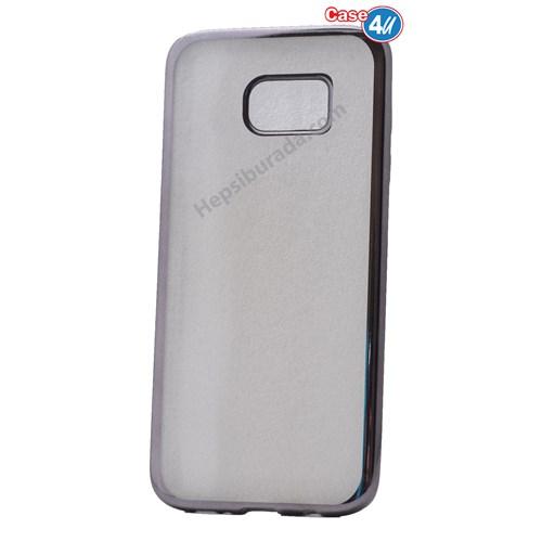 Case 4U Samsung Galaxy S7 Edge Lazer Kaplama Silikon Kılıf Koyu Gri