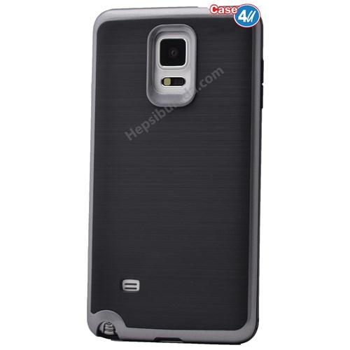 Case 4U Samsung Galaxy Note 4 Infinity Koruyucu Kapak Koyu Gri