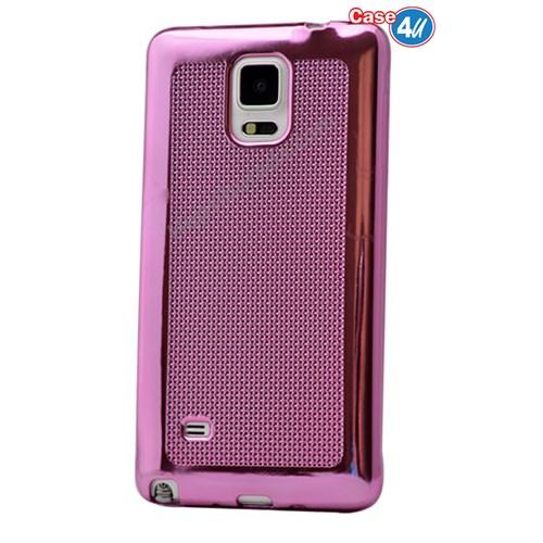 Case 4U Samsung Galaxy Note 3 Hasır Desenli Ultra İnce Silikon Kılıf Pembe