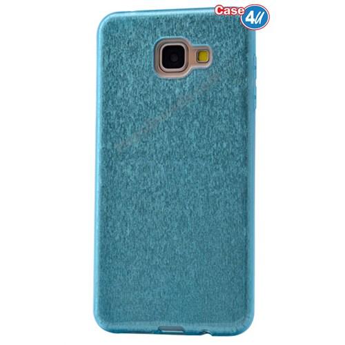Case 4U Samsung A710 Galaxy A7 Shining Silikon Kılıf Mavi