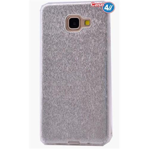 Case 4U Samsung A710 Galaxy A7 Shining Silikon Kılıf Gri