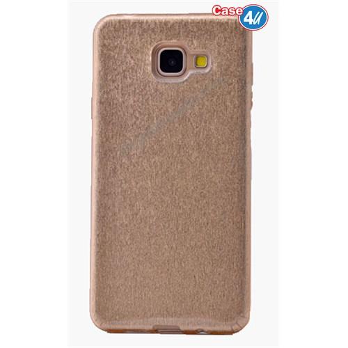 Case 4U Samsung A710 Galaxy A7 Shining Silikon Kılıf Altın