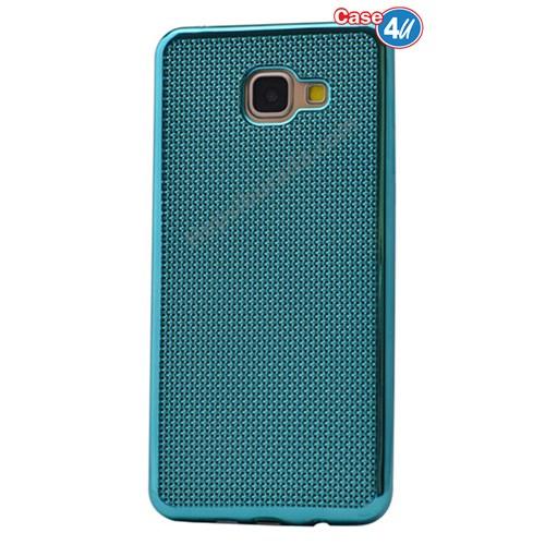 Case 4U Samsung A710 Galaxy A7 Hasır Desenli Ultra İnce Silikon Kılıf Turkuaz