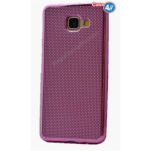 Case 4U Samsung A510 Galaxy A5 Hasır Desenli Ultra İnce Silikon Kılıf Pembe