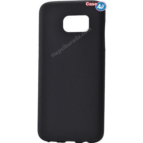 Case 4U Samsung A710 Galaxy A7 Polo Silikon Kapak Siyah