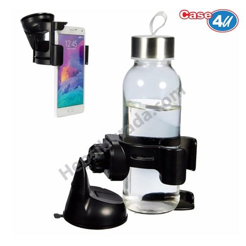 Case 4U Araç İçi Bardak ve Telefon Tutucu