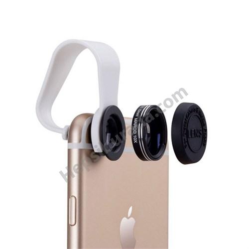 Momax 2 in 1 Universal Klipsli Selfie / Makro Lens Kiti (Tüm Akıllı Telefonlar ile Uyumlu)