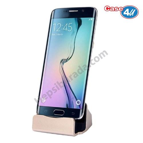 Case 4U Samsung,LG,HTC Masa Üstü Standlı Şarj Seti Altın Dock
