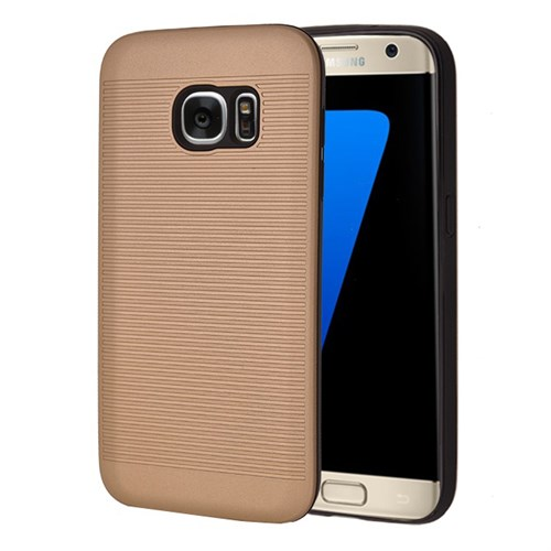 Microsonic Samsung Galaxy S7 Kılıf Linie Anti-Shock Gold