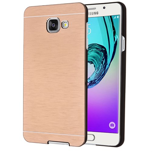 Microsonic Samsung Galaxy A9 2016 Kılıf Hybrid Metal Gold