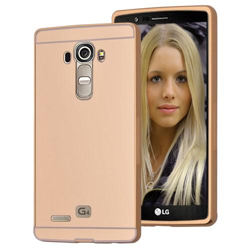 Microsonic Lg G4 Kılıf Luxury Mirror Gold