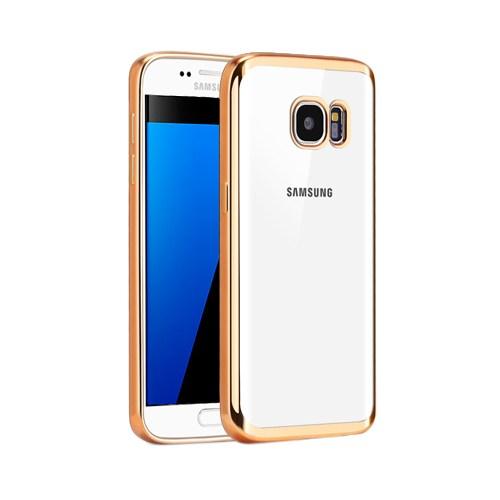 Microsonic Samsung Galaxy S7 Kılıf Flexi Delux Gold
