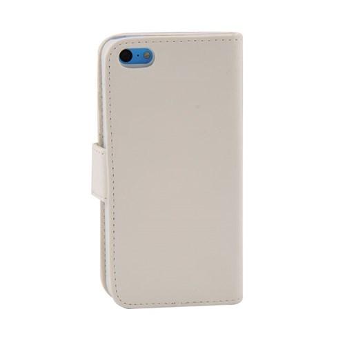 Vacca Apple İphone 5C Yan Cüzdan Tip Kilif Beyaz