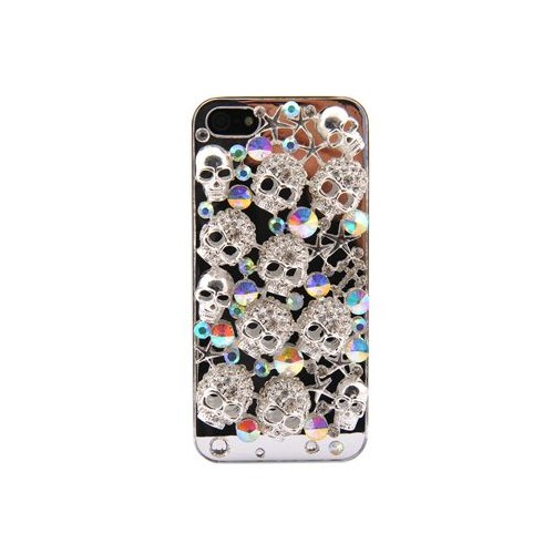 Vacca Apple İphone 5 Skulle Series Taşli Aynali Kapak