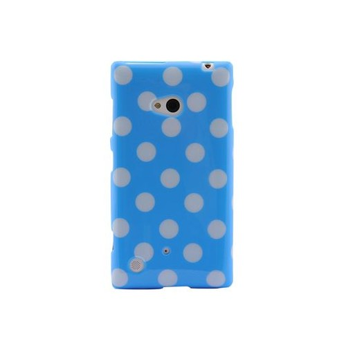 Duck Lumia 720 Puantiye Lady-Line Mavi Beyaz Kapak