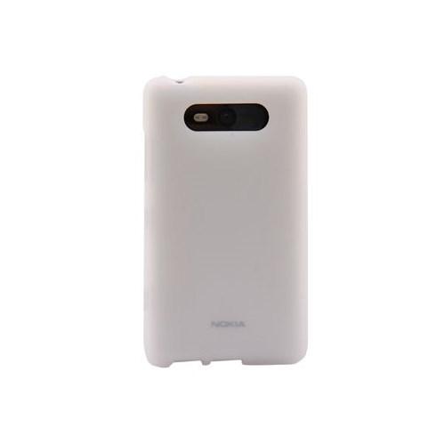Duck Lumia 820 Silikon Kilif Daily Beyaz Kapak