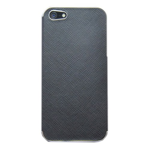Duck Apple iPhone 5 Metal Çerçeve - Business Class Black - Siyah Kapak