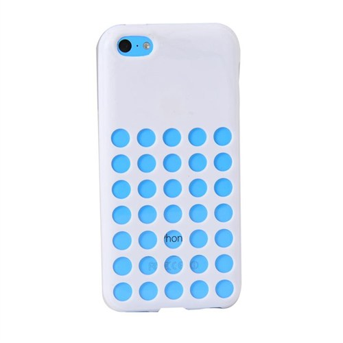 Duck Apple iPhone 5C Slikon Delikli Kapak Daily Beyaz
