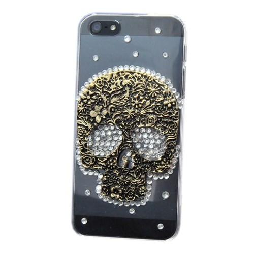 Resonare Apple iPhone 5 - 3D Skull - Antik - Şeffaf Kapak